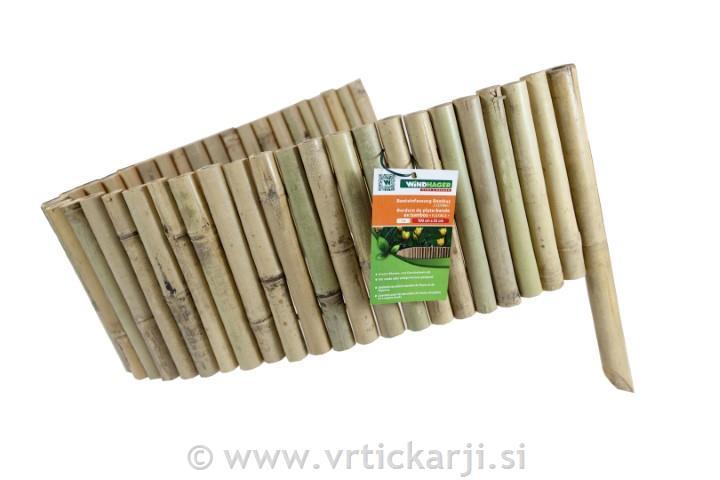 Image of Obroba za gredice, bambus, 100x35 cm