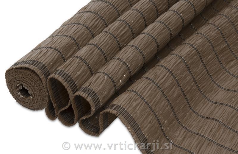 Windhager Balkonska ograja Raffia, 3x1,5m PVC tkanina, rjava