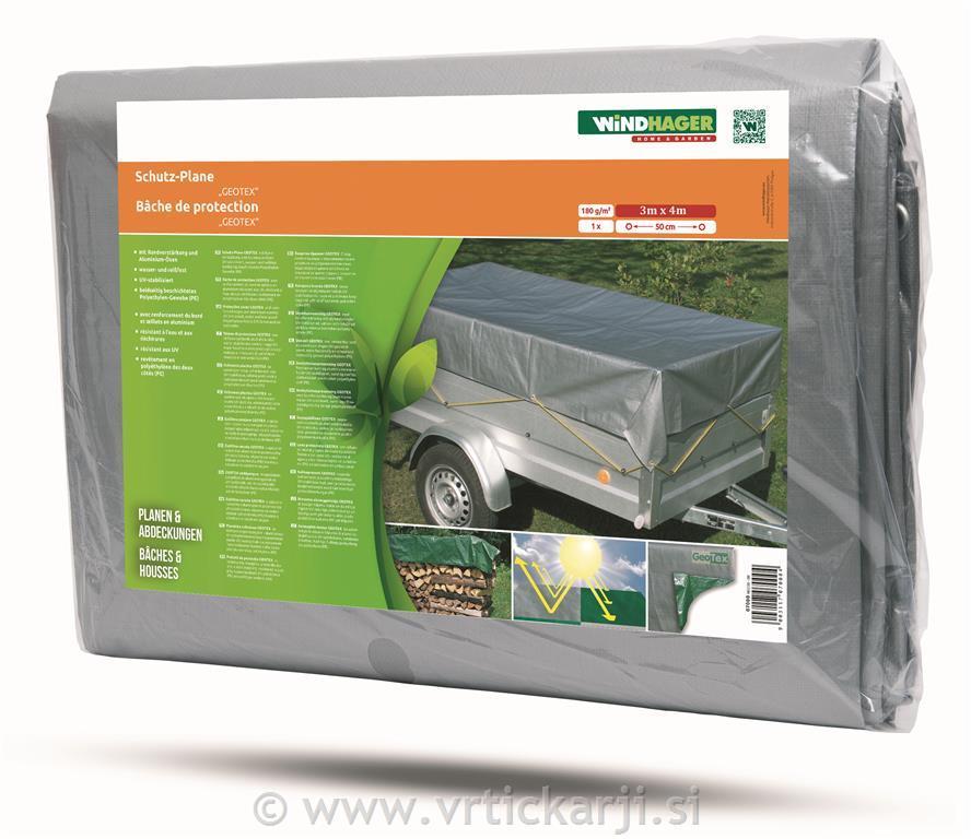 Windhager Ponjava zaščitna, 3x4m, srebrna,180 g/m2