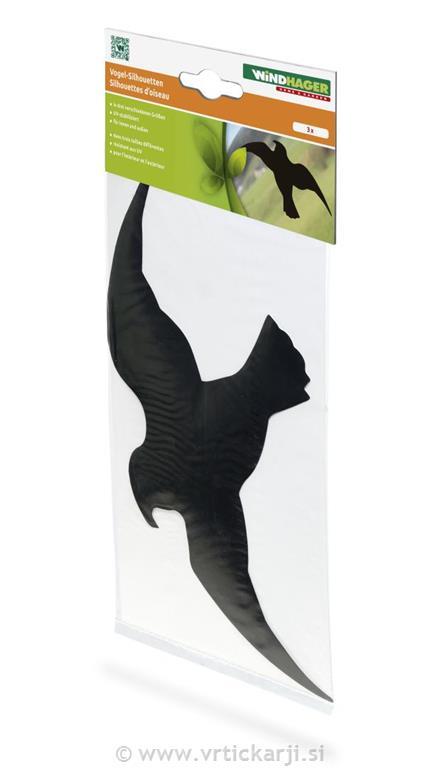 Image of Ptica silhueta, 3 kosi, črna